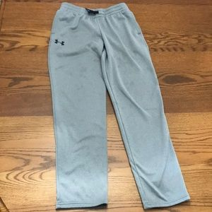 Gray Under Armour sweat pants